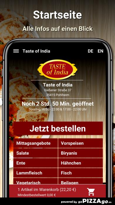 Taste of India Pohlheim screenshot 2