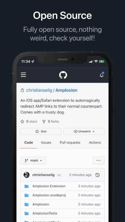 Amplosion: Redirect AMP Links screenshot-3