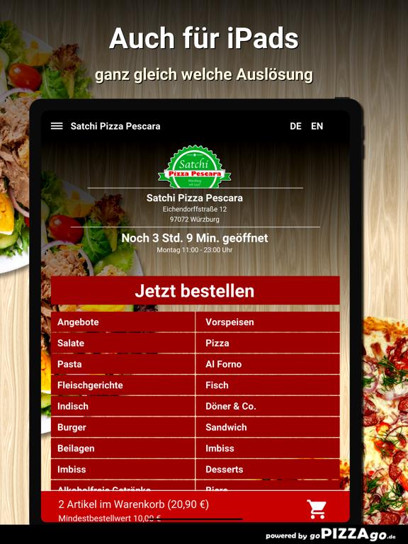 Satchi Pizza Pescara Würzburg screenshot 7