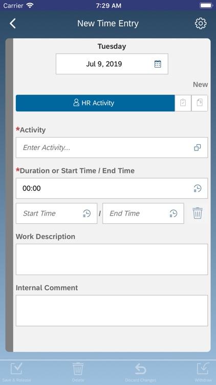 SAP Time Recording screenshot-3