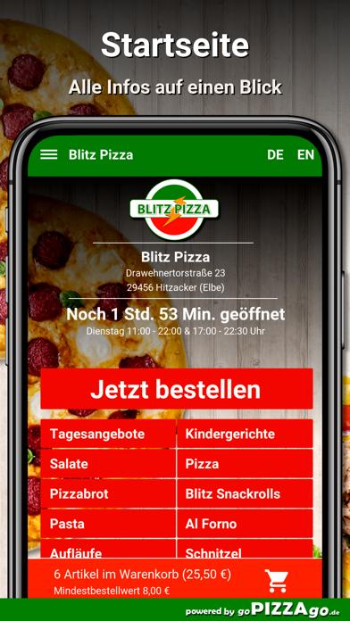 Blitz Pizza Hitzacker (Elbe) screenshot 2