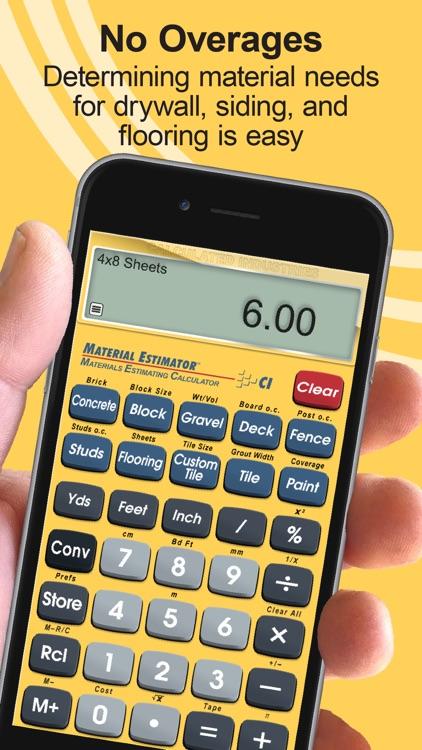 Material Estimator Calculator screenshot-6