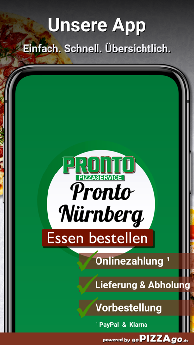 Pronto Pizzaservice Nürnberg screenshot 1
