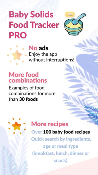 Baby Solids Food Tracker PRO screenshot 1