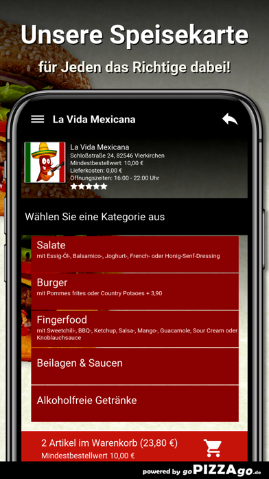 La Vida Mexicana Vierkirchen screenshot 5