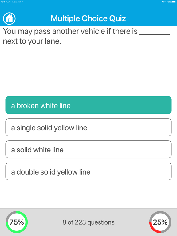 Driving Licence Quiz screenshot 7