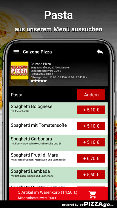 Calzone-Pizza München screenshot 3