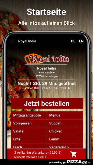 Royal India Memmingen screenshot 2