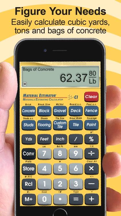 Material Estimator Calculator screenshot-5