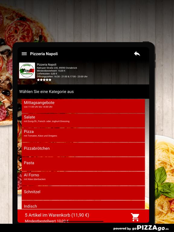Pizzeria-Napoli Osnabrück screenshot 8