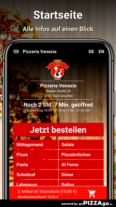 Pizzeria Venezia Bad Salzuflen screenshot 2