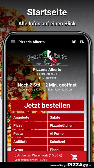Pizzeria Alberto Bochum screenshot 2