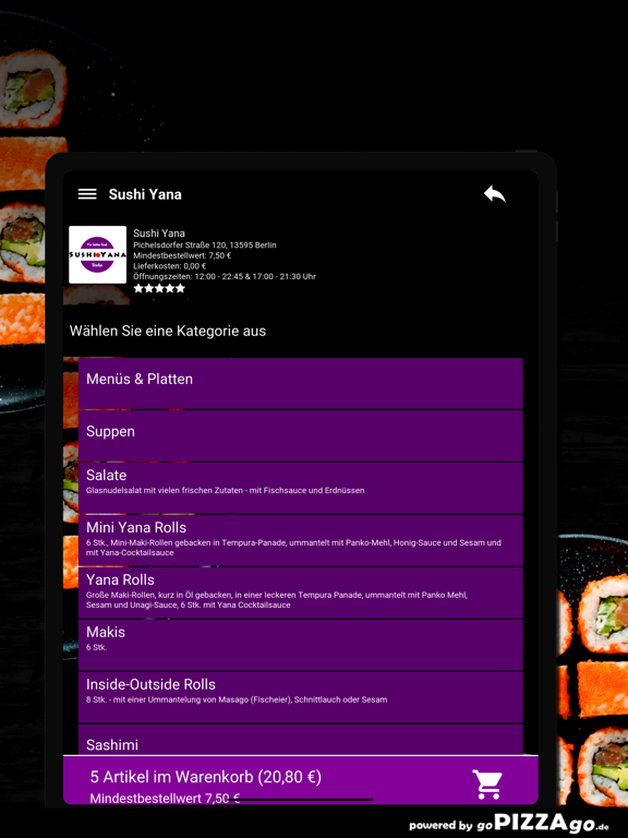 Sushi Yana Berlin screenshot 8