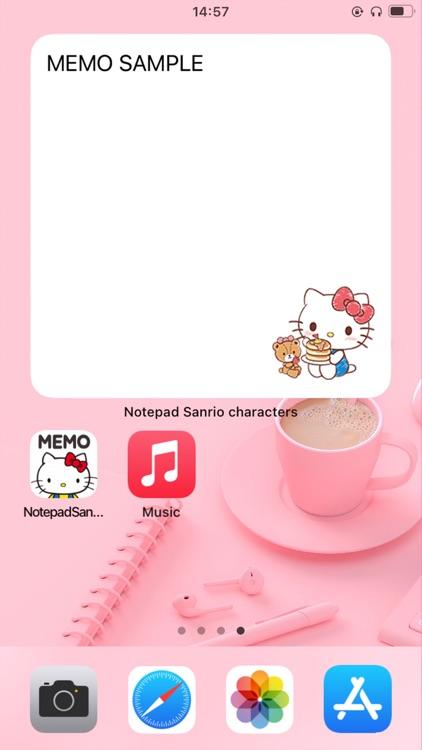 Notepad Sanrio characters screenshot-9