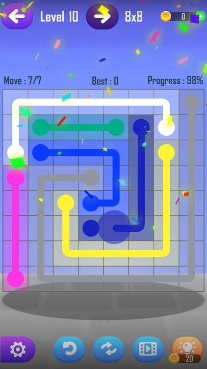Line Puzzle Game-Color Connect screenshot-3