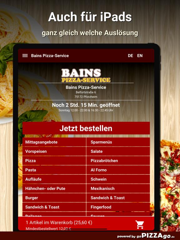 Bains Pizza-Service Pforzheim screenshot 7