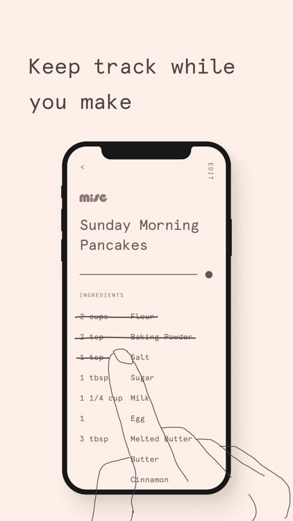 Mise: A minimalist recipe box screenshot-5