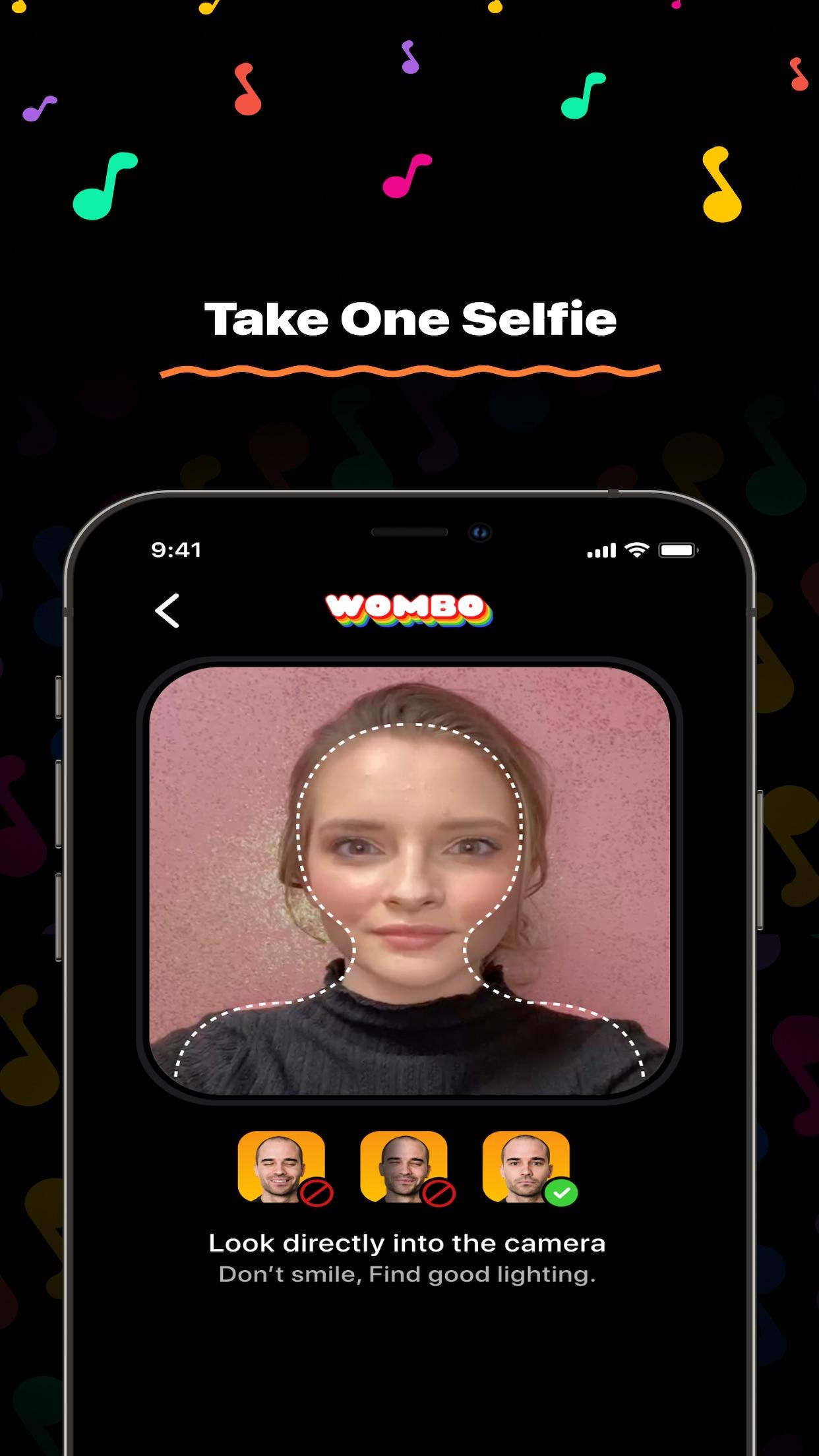 Screenshot do app WOMBO