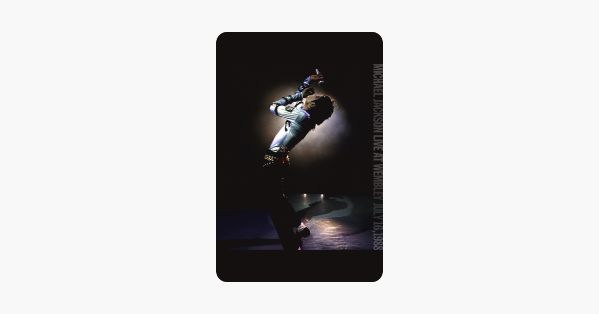 itunes iphone backup michael jackson live at wembley july 16 1988 on itunes 1987
