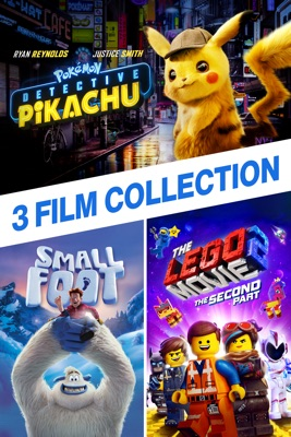 Poster for Detective Pikachu / LEGO Movie 2 / Smallfoot - 3 Film Collection