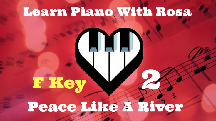 Key F Line 3 - Play Piano Demo with Chords Only - Slow