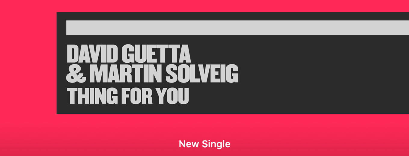 Thing For You - Single by David Guetta & Martin Solveig